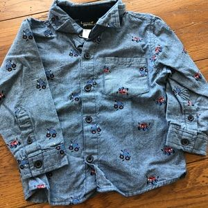 Little Rebels size 3T car button down shirt